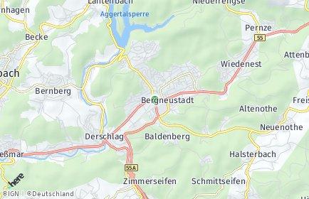 Stadtplan Bergneustadt
