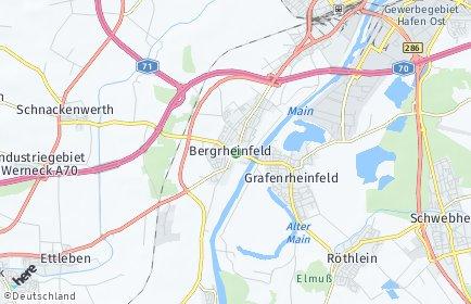Stadtplan Bergrheinfeld