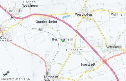 Stadtplan Bermersheim bei Worms