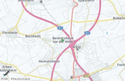 Stadtplan Bermersheim vor der Höhe