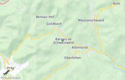 Stadtplan Bernau im Schwarzwald