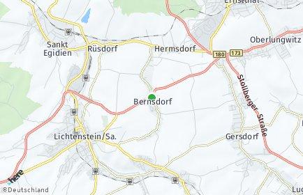 Stadtplan Bernsdorf (Landkreis Zwickau)