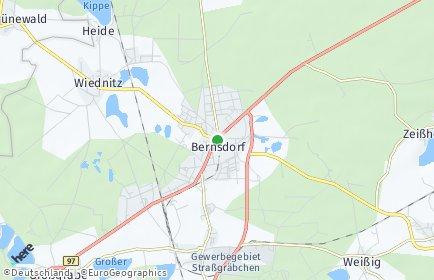 Stadtplan Bernsdorf (Oberlausitz)