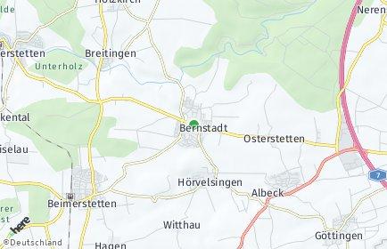Stadtplan Bernstadt (Württemberg)