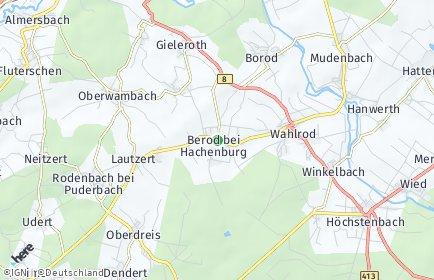 Stadtplan Berod bei Hachenburg