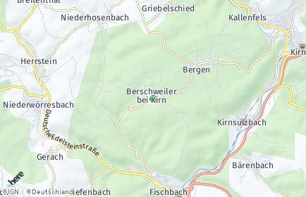 Stadtplan Berschweiler bei Kirn