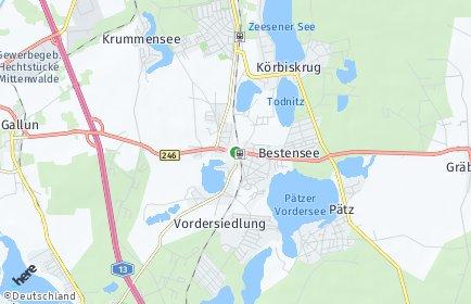 Stadtplan Bestensee