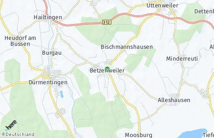 Stadtplan Betzenweiler
