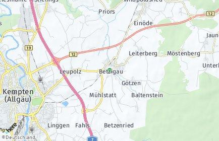Stadtplan Betzigau