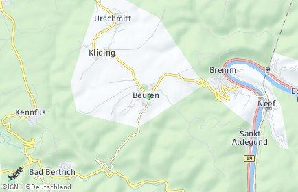 Stadtplan Beuren (Eifel)