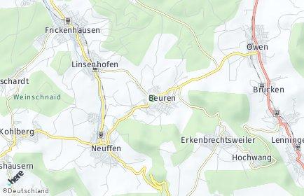 Stadtplan Beuren bei Nürtingen