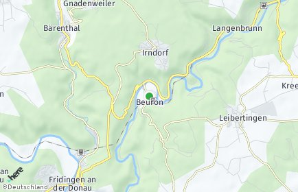 Stadtplan Beuron