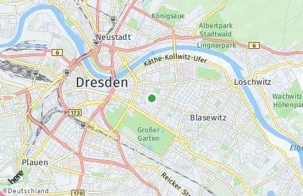Stadtplan Dresden OT Johannstadt-Süd