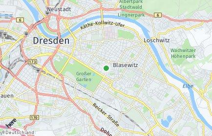 Stadtplan Dresden OT Striesen-Süd