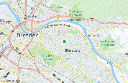 Stadtplan Dresden OT Striesen-West