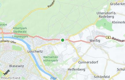 Stadtplan Dresden OT Bühlau/Weißer Hirsch