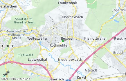 Stadtplan Bexbach