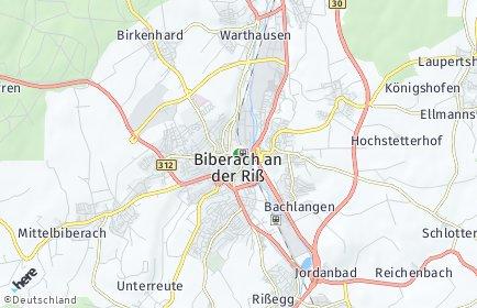 Stadtplan Biberach an der Riß