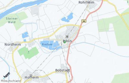 Stadtplan Biblis