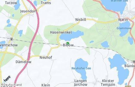 Stadtplan Bibow