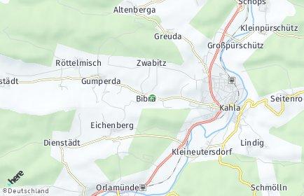 Stadtplan Bibra bei Jena