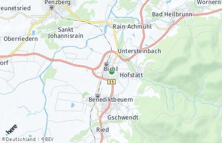 Stadtplan Bichl