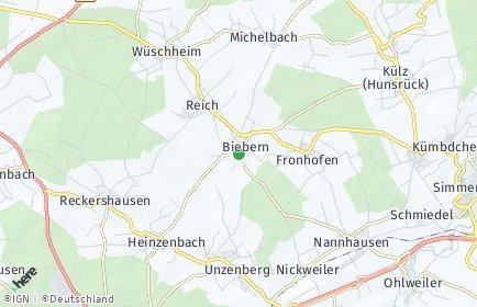 Stadtplan Biebern