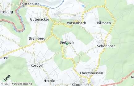 Stadtplan Biebrich