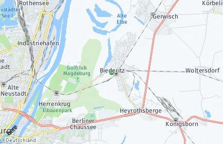 Stadtplan Biederitz