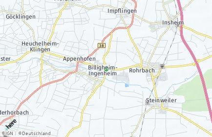 Stadtplan Billigheim-Ingenheim