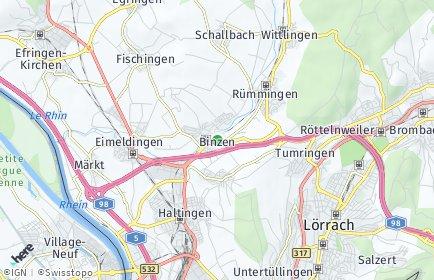Stadtplan Binzen