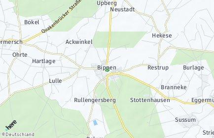Stadtplan Bippen