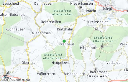 Stadtplan Birkenbeul