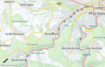 Stadtplan Birkenfeld (Württemberg)