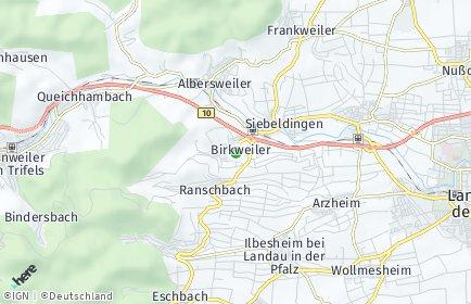 Stadtplan Birkweiler