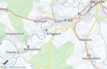 Stadtplan Birlenbach