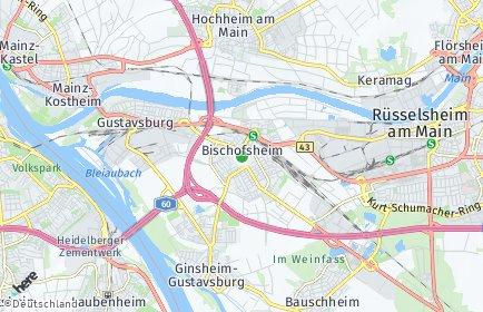 Stadtplan Bischofsheim (Mainspitze)