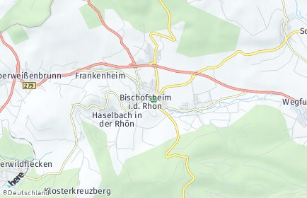 Stadtplan Bischofsheim in der Rhön