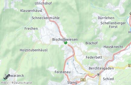Stadtplan Bischofswiesen