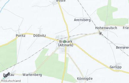 Stadtplan Bismark (Altmark) OT Grünenwulsch