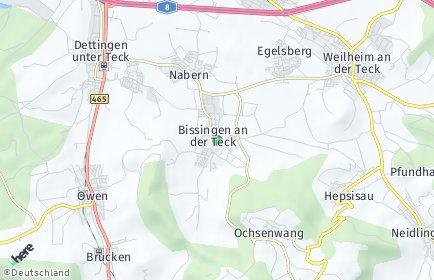 Stadtplan Bissingen an der Teck
