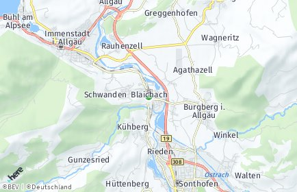Stadtplan Blaichach