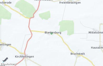 Stadtplan Blankenburg (Thüringen)
