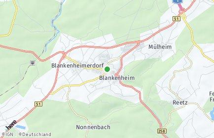 Stadtplan Blankenheim (Ahr) OT Ahrhütte