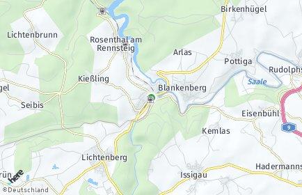 Stadtplan Rosenthal am Rennsteig OT Kießling