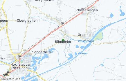 Stadtplan Blindheim