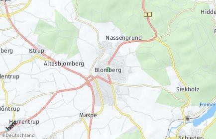 Stadtplan Blomberg