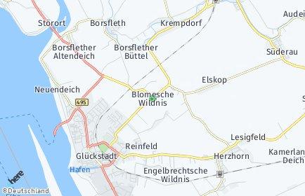 Stadtplan Blomesche Wildnis
