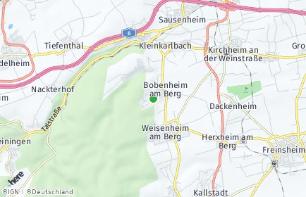 Stadtplan Bobenheim am Berg