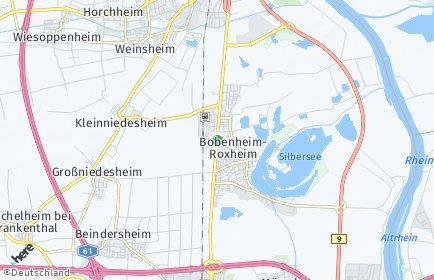 Stadtplan Bobenheim-Roxheim